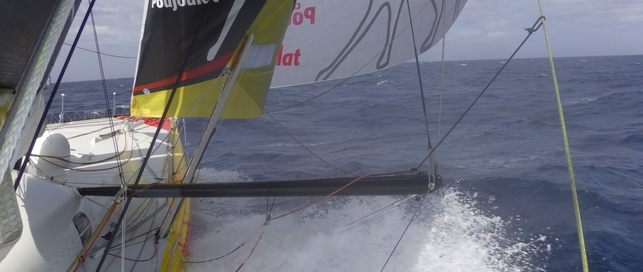 Course au Large IMOCA Barcelona World Race 2014 Cheminée Poujoulat 480